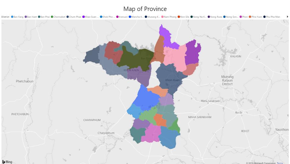 Map of Khonkaen